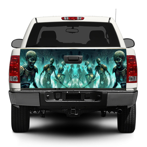 Zombies Tailgate Decal Sticker Wrap Pick-up Truck SUV Car