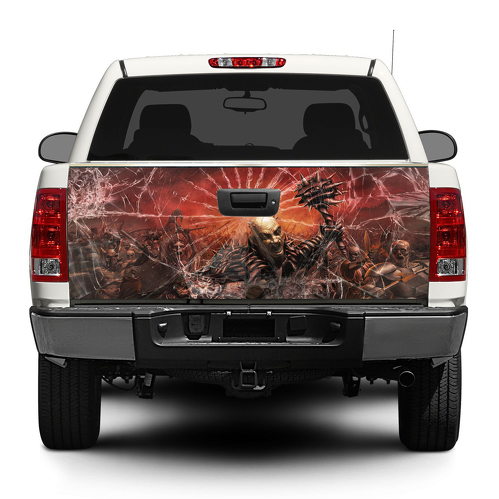 Broken Glass Death Hit Heckklappe Aufkleber Aufkleber Wrap Pick-up Truck SUV Auto