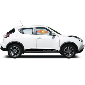 NISSAN JUKE Turbocharged MOTORSPORT Vinyl Decal Sticker LATO STRISCIA decalcomania GRAFICO