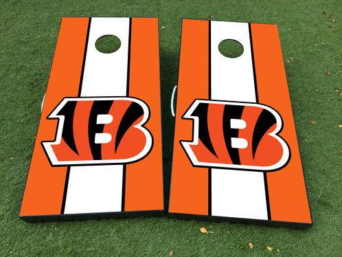 Cincinnati Bengals Football  Cornhole Board Game Decal VINYL WRAPS with LAMINATED