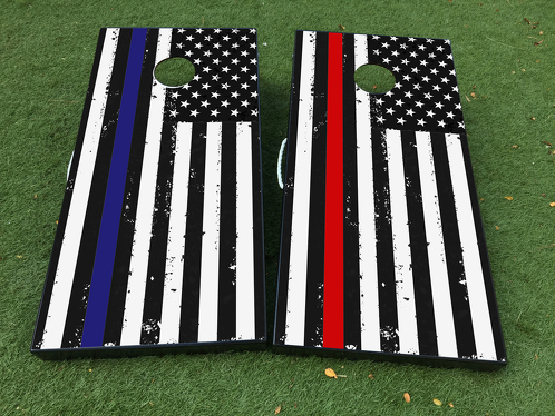 USA American Flag Patriotic Cornhole Board Game Decal VINYL WRAPS with LAMINATED