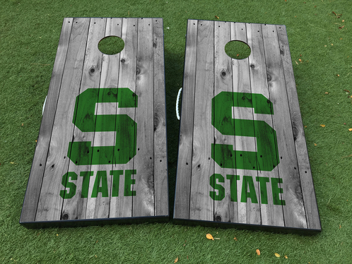 Michigan State University Cornhole Board Game Decal VINYL WRAPS with LAMINATED
