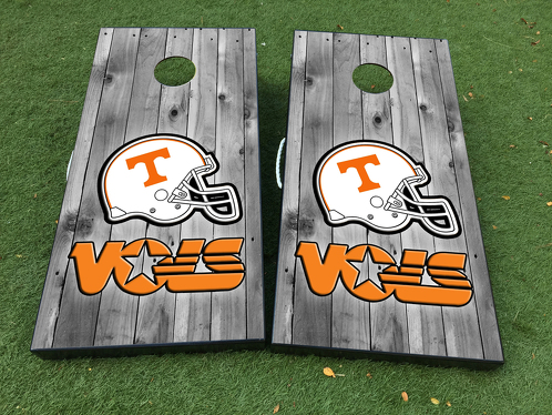 Tennessee Vols Football Cornhole Board Game Decal VINYL WRAPS with LAMINATED