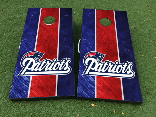 New England Patriots Fußball Cornhole Brettspiel Aufkleber VINYL WRAPS mit LAMINIERT