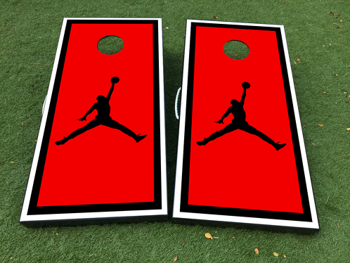 NBA Fly Jordan Logo Cornhole Board Game Decal VINYL WRAPS with LAMINATED