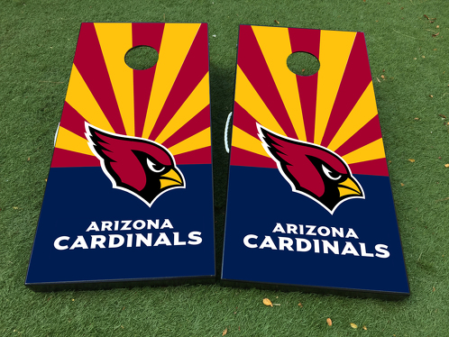 Arizona Cardinals NFL Cornhole Board Game Decal VINYL WRAPS with LAMINATED
