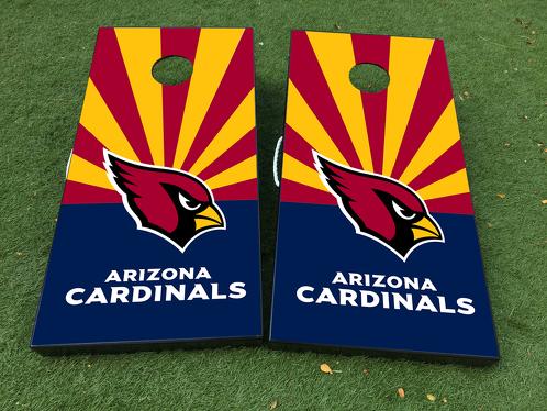 Arizona Cardinals NFL Cornhole Brettspiel Aufkleber VINYL WRAPS mit LAMINIERT