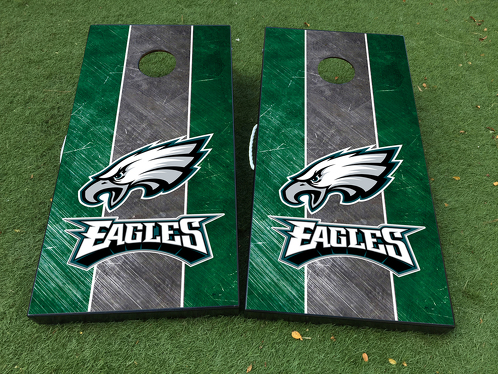 eagles football cornhole board game decal vinyl wraps with laminated - Cornhole Board Wraps