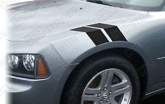 DODGE CHARGER Fender Hash Stripes Le Mans 2006 2007 2008 2009 2010 Vinyl Decals