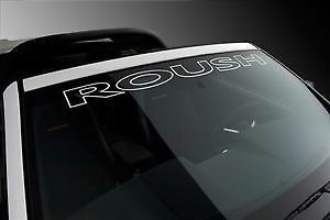 ROUSH MUSTANG Vinyl Decal Windshield Sticker Emblem Logo Graphic White