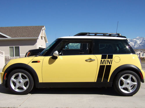 MINI COOPER ANGLED SIDE STRIPES COUNTRYMAN CLUBMAN GRAPHICS STICKERS DECALS