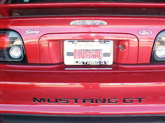 94-98 MUSTANG GT V6 LETTER INSERTS DECALS BUMPER LETTERS FORD LICENSED STICKERS
