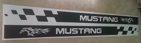 MUSTANG side skirt vinyl body decal sticker graphics