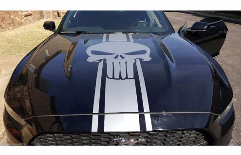 car decal vinyl hood sticker ford mustang shelby sport punisher racing stripes s