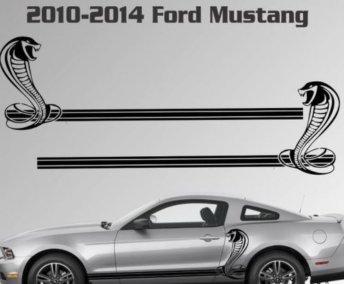 2010-2014 Ford Mustang Rocker Stripe Vinyl Decal Sticker GT 5.0 Graphic Cobra