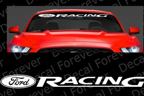 LARGE- DIE CUT FORD Racing Mustang Wind Shield Die Cut Vinyl Sticker Decal RC085