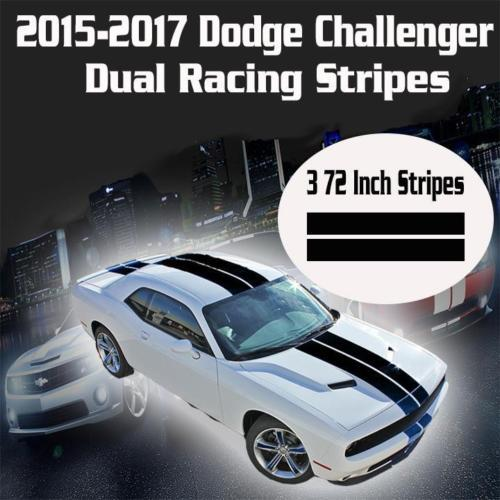 2015 2016 2017 Dodge Challenger Dual Racing Stripes Rally Vinyl Decal Sticker