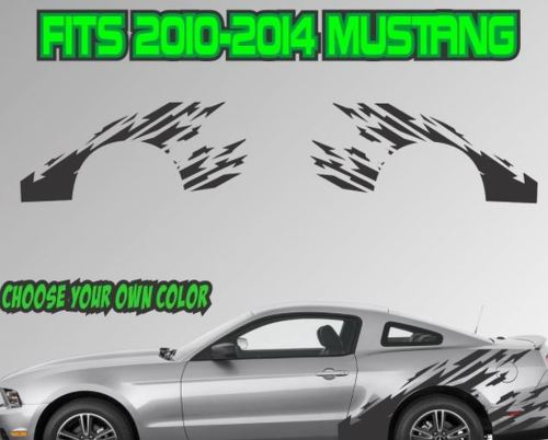2010-2014 Ford Mustang Ripped Stripe Vinyl Decal Sticker GT 5.0 Graphic Cobra