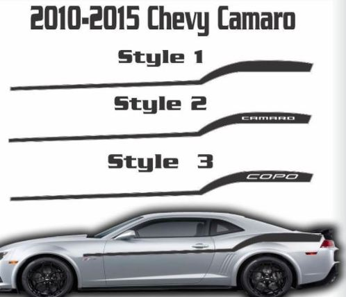 2010 2011 2012 2013 2014 2015 Chevy Camaro Racing Stripe Graphic Decal Chevrolet