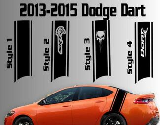 2013-2015 Dodge Dart Rear Rennstreifen Vinyl Aufkleber Aufkleber SXT SRT RT SRT8