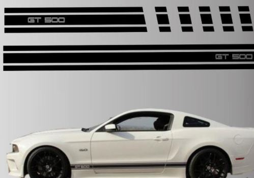 2010-2014 Ford Mustang Rocker Stripe Vinyl Decal Sticker GT 5.0 Graphic Gt 500