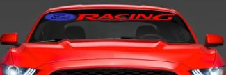 LARGE DIE CUT FORD Racing Mustang Wind Shield Die Cut Vinyl Sticker Decal