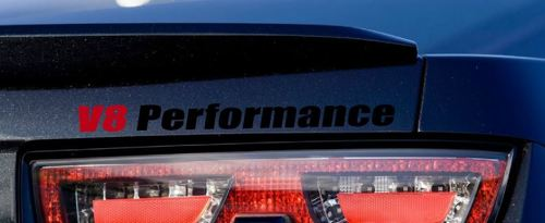 V8 Performance Vinyl Decal sport sticker logo fits CAMARO BLACK-RED