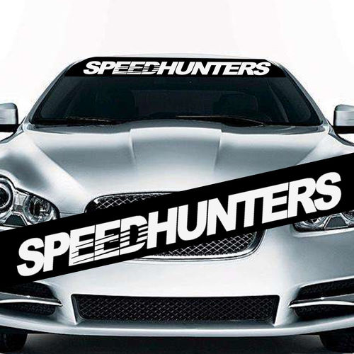 1PC The JDM SpeedHunters Sun Visor Windshield Hellaflush Vinyl Car Sticker Decal