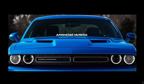 Mopar American Muscle 23  Dodge Windshield Banner Sticker Decal hellcat srt