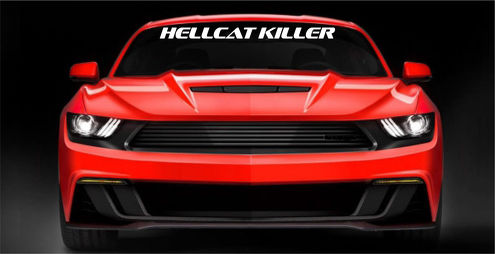2pcs HELLCAT KILLER Decal Windshield Window Vinyl Graphic Ford Mustang Camaro
