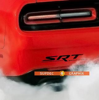 SRT Motorsports Vinyl  Decal Sticker Rear Bumper for Dodge Charger Challenger Viper Hellcat Demon