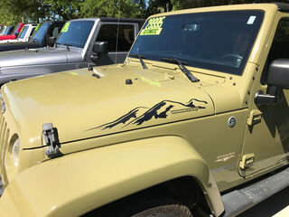 2pcs MOUNTAIN WRANGLER Hood Side Decal Graphic JEEP WRANGLER RUBICON SAHARA