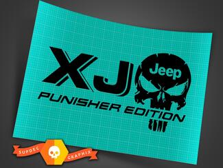 LKW Auto Aufkleber - (2) XJ JEEP Punisher EDITION - Vinyl Aufkleber Outdoor Vinyl