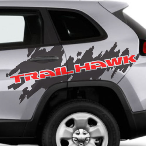 2 Color Jeep Renegade Cherokee Trailhawk Side Splash Logo Graphic Vinyl Decal