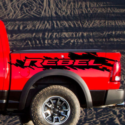 Dodge Ram Rebel Grunge Splash Logo Truck Vinyl Decal Graphic Camo
