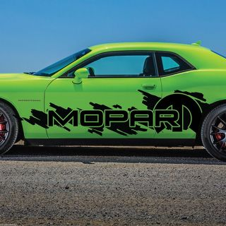 Dodge Challenger Mopar Splash Grunge Logo Vinyl Decal Graphic Camo