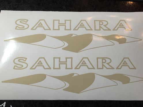 X2 Jeep Sahara Decal Sticker Vinyl Stock Color Wrangler Rubicon Sport 4x4