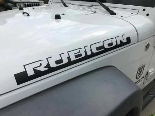 2pcs RUBICON SHADOW Hood Side Decal Graphic JEEP WRANGLER RUBICON SAHARA