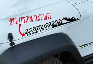 CUSTOM TEXT- JK Edition Mountain vinyl sticker decal Fits any Jeep wrangler JK3