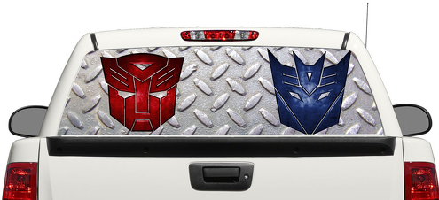 Transformer logo Autobot Decepticon Rear Window Decal Sticker Pick-up Truck SUV Car 3