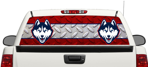 Connecticut Huskies Basketball Logo Heckscheibe Aufkleber Aufkleber Pick-up Truck SUV Auto 3