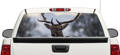 Deer Animal Rear Window Decal Sticker Pick-up Truck SUV Car 3