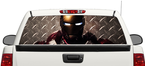 Iron Man Marvel Tony Stark Steel Rear Window Decal Sticker Pick-up Truck SUV Car 3