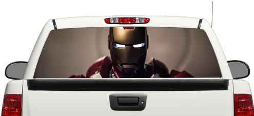 Iron Man Marvel Tony Stark  Rear Window Decal Sticker Pick-up Truck SUV Car 3