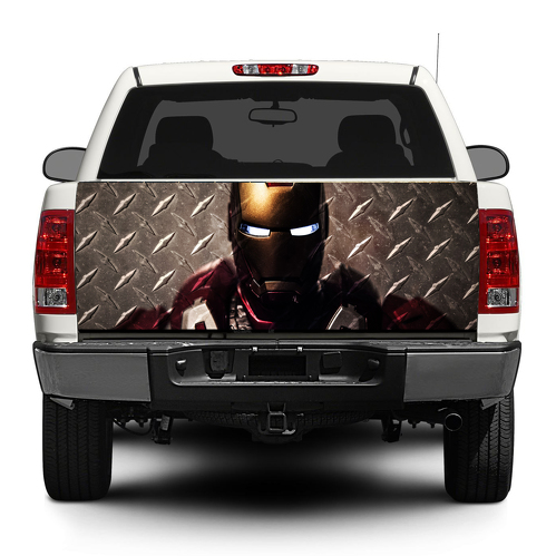 Iron Man Marvel Tony Stark Steel Tailgate Decal Sticker Wrap Pick-up Truck SUV Car