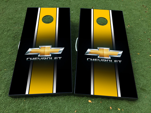 Chevrolet Car Logo Cornhole Board Game Decal VINYL WRAPS with LAMINATED