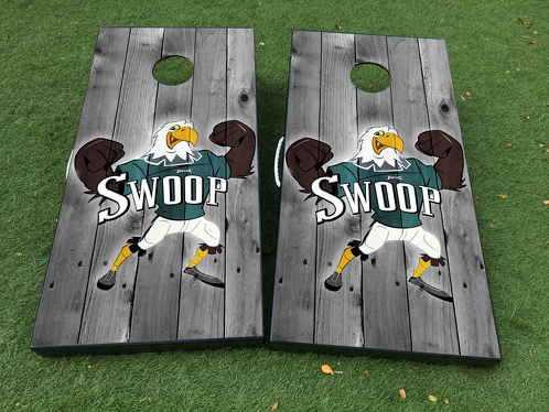 Philadelphia Eagles Football Cornhole Board Game Decal VINYL WRAPS with LAMINATED