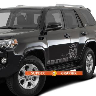 Toyota 4Runner TRD Sport Off Road Pro mountains compass expedition graphics side stripe decal