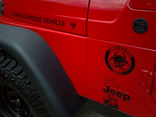 Jeep Rubicon Wrangler Zombie Outbreak Response Team Wrangler Decal kit#1