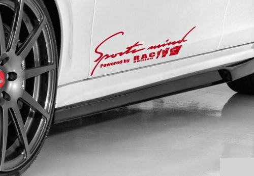 Sports Mind Powered by Racing Edition Car vinyl decal sticker RED